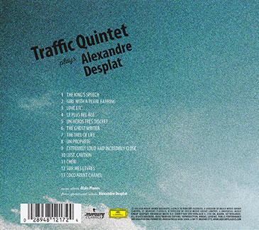 CD Traffic Quintet plays Alexandre Desplat - verso